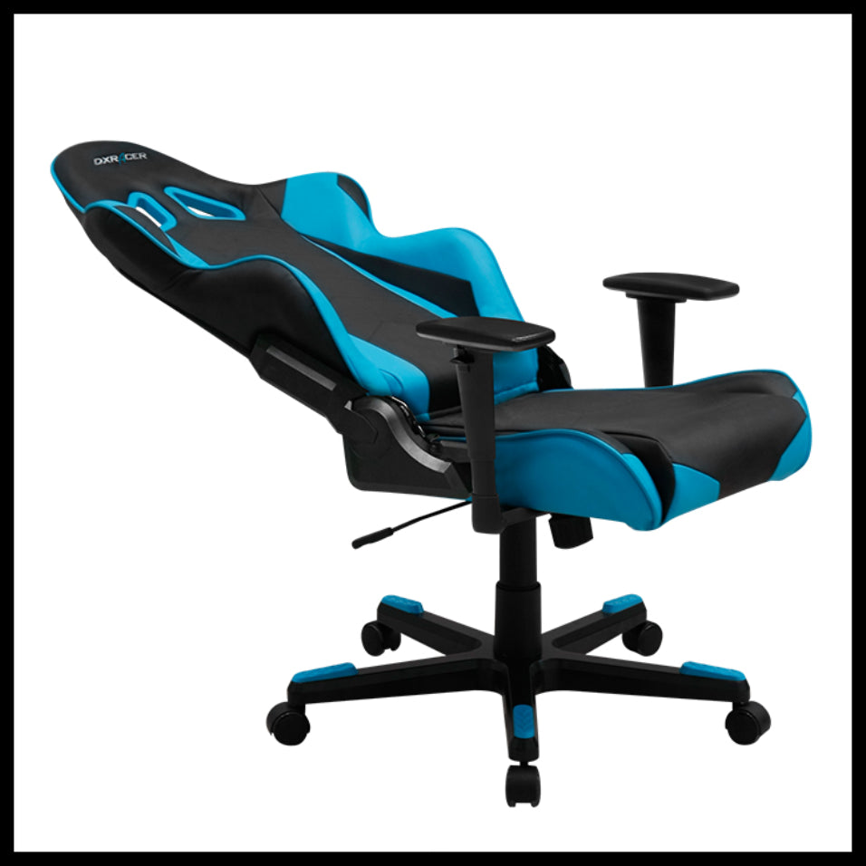 DXRacer OH/RE0/NB Black/Blue Racing Series Gaming Chair   Racer Gaming  Chairs