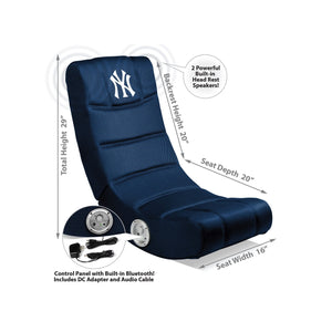 New York Yankees Bluetooth Rocker Gaming Chair - Racer Gaming Chairs