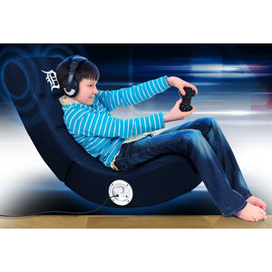 Detroit Tigers Bluetooth Rocker Gaming Chair - Racer Gaming Chairs