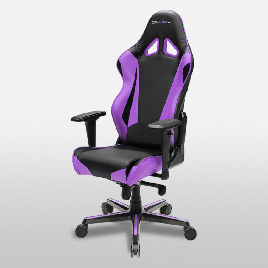 DXRacer OH/RV001/NV Black/Violet Racing Series Gaming Chair - Racer Gaming Chairs