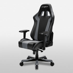 DXRacer OH/KS06/NG Black/Gray King Series Gaming Chair - Racer Gaming Chairs