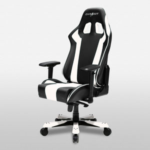 DXRacer OH/KS06/NW Black/White King Series Gaming Chair - Racer Gaming Chairs