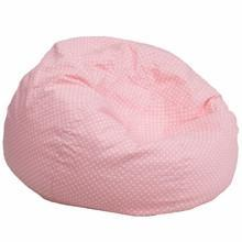 Priscilla Light Pink Oversized Pink Dot Gaming Bean Bag Chair - Racer Gaming Chairs