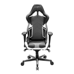 DXRacer DXRacer OH/RV131/NW Black/White Racing Series Gaming Chair - Racer Gaming Chairs