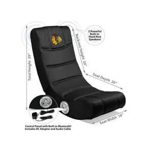 Chicago Blackhawks Bluetooth Rocker Gaming Chair - Racer Gaming Chairs