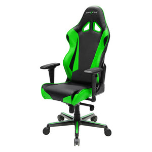 DXRacer OH/RV001/NE Black/Green Racing Series Gaming Chair - Racer Gaming Chairs