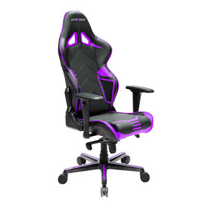 DXRacer OH/RV131/NV Black/Violet Racing Series Gaming Chair - Racer Gaming Chairs