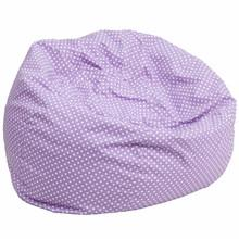 Laura Lavender Dot Oversized Gaming Bean Bag Chair - Racer Gaming Chairs