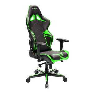 DXRacer OH/RV131/NE Black/Green Racing Series Gaming Chair - Racer Gaming Chairs