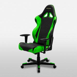 DXRacer OH/RE0/NE Black/Green Racing Series Gaming Chair - Racer Gaming Chairs