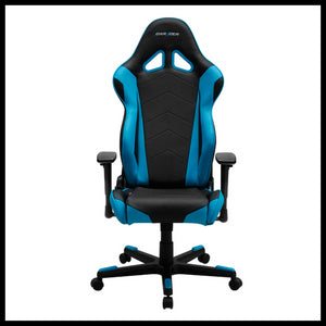 DXRacer OH/RE0/NB Black/Blue Racing Series Gaming Chair - Racer Gaming Chairs