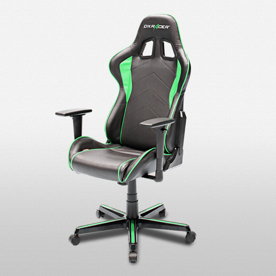 DXRacer OH/FH08/NE Black/Green Formula Series Gaming Chair - Racer Gaming Chairs