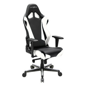 DXRacer OH/RV001/NW Black/White Racing Series Gaming Chair - Racer Gaming Chairs