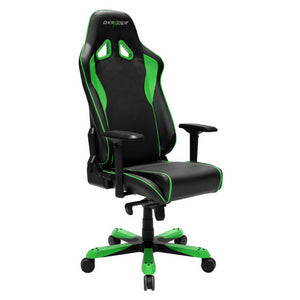 DXRacer OH/SJ08/NE Black/Green Sentinel Series Gaming Chair - Racer Gaming Chairs