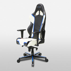 DXRacer OH/RH110/NWB Black/Blue/White Racing Series Gaming Chair - Racer Gaming Chairs