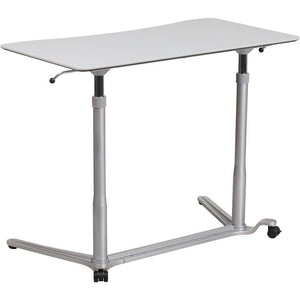 Zoe Small Standing Adjustable Light Gray Gaming Laptop Desk - Racer Gaming Chairs