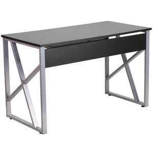 Cleo Black Gaming Office Desk with Pull-Out Tray - Racer Gaming Chairs