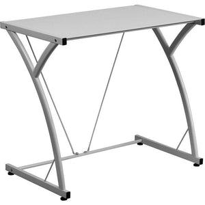 Maya Tempered Glass Office Desk White Desks Free Shipping