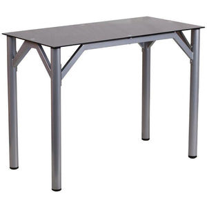 Lila Silver Aluminum Contemporary Office Desk Desks Free Shipping
