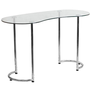 Lila Chrome Aluminum Open Contemporary Office Desk Desks Free Shipping