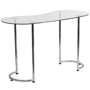 Lila Chrome Aluminum Open Contemporary Office Desk - Racer Gaming Chairs