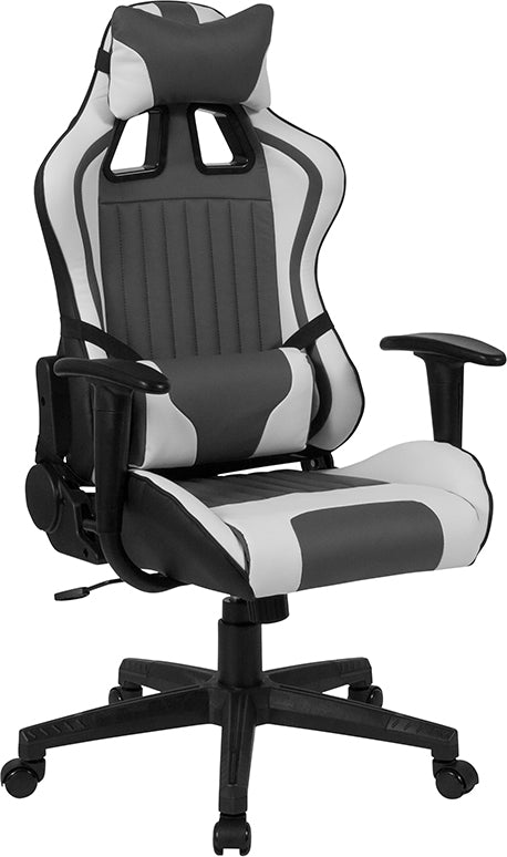 Sebring Gray/White Gaming Office Chair - Racer Gaming Chairs