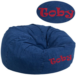 Personalized Large Overstuffed Gaming Bean Bag Chair - Racer Gaming Chairs