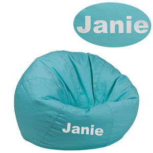 Personalized Kids Bean Bag Chair - Racer Gaming Chairs