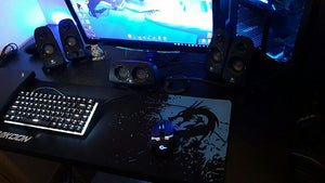 Dragon Large Gaming Mouse Pad and Keyboard Mat - Racer Gaming Chairs