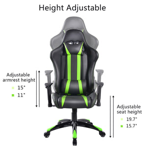 Cypher Green Racing Gaming Chair - Racer Gaming Chairs