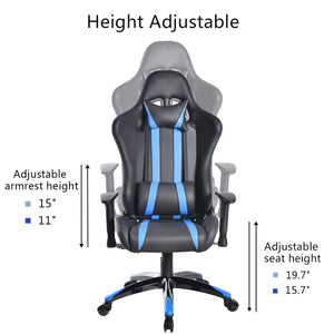 Cypher Blue Racing Gaming Chair - Racer Gaming Chairs