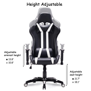 Slipstream White Racing Gaming Chair - Racer Gaming Chairs