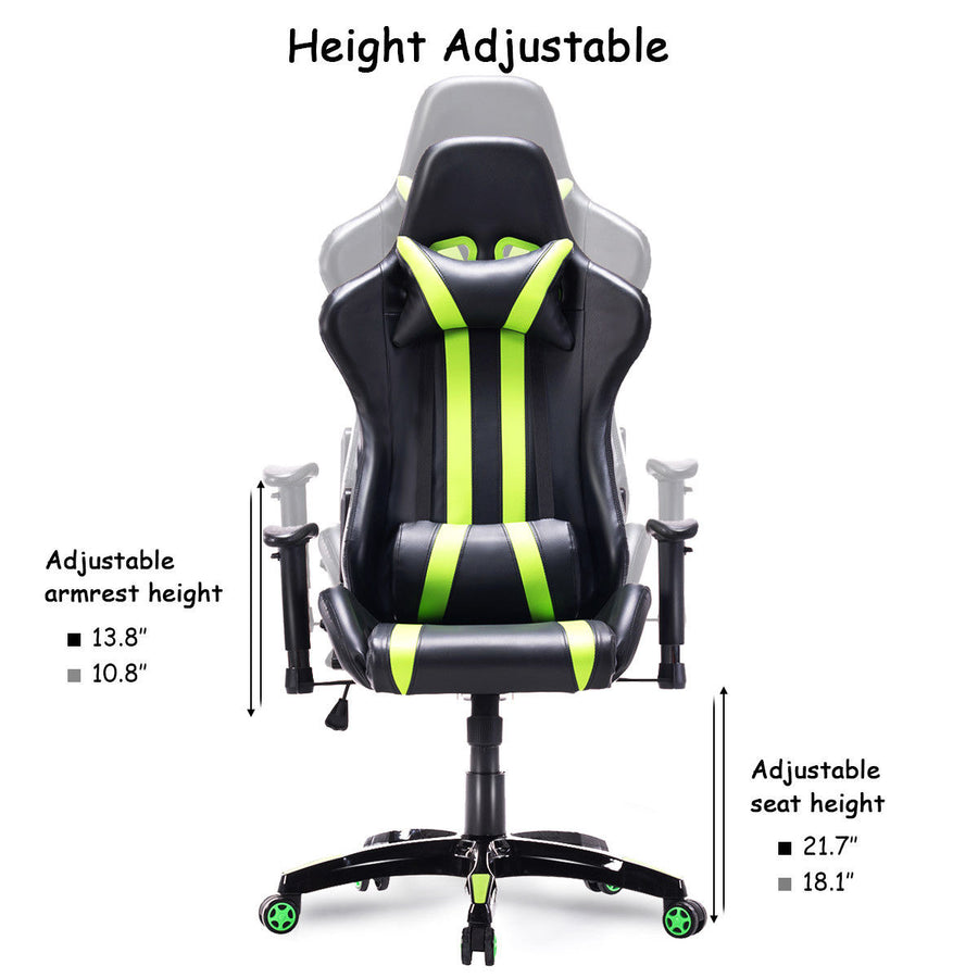 Slipstream Green Racing Gaming Chair - Racer Gaming Chairs