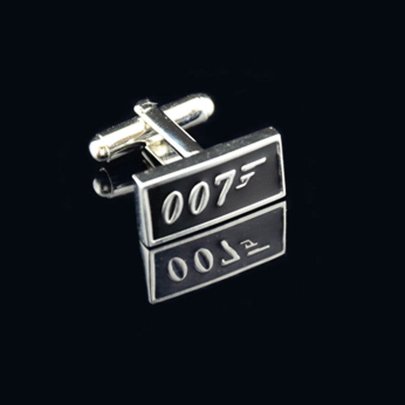 Mens James Bond Style Printing Pattern Continental Button Cufflinks