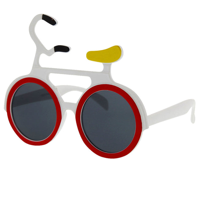 Bicycle Shaped Party Novelty Costume Sunglasses - grinderPUNCH