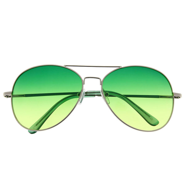 Classic Aviator Sunglasses With Gradient Lens - grinderPUNCH