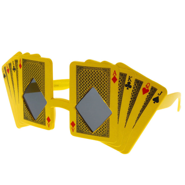 Poker Cards Sunglasses World Face Royal Flush Ace Costume Novelty Fun Party - grinderPUNCH