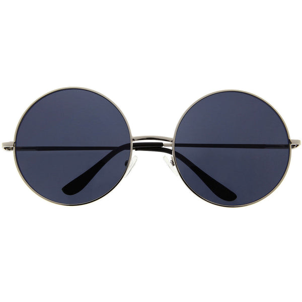 Women's EXTRA Oversized Large Round Fashion Sunglasses Vintage Twiggy Retro - grinderPUNCH