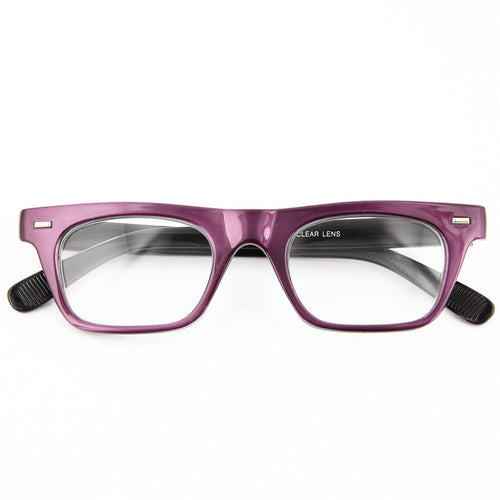 Flat Top Thick Square Glasses - grinderPUNCH