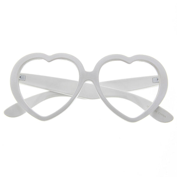 Heart Shaped Love Clear Party Sunglasses - grinderPUNCH