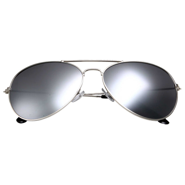 Unisex Full Mirrored Aviator Sunglasses Original Metal Frame UV400 Free Bag - grinderPUNCH