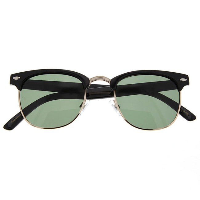 Polarized Vintage Half Frame Sunglasses - grinderPUNCH