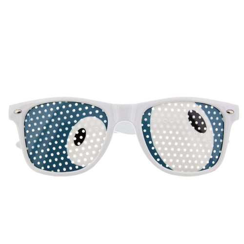 Fun Party Cartoon Pin Hole Sunglasses - grinderPUNCH