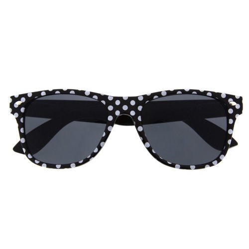 Women's Polka Dot Classic Vintage Style Sunglasses - grinderPUNCH