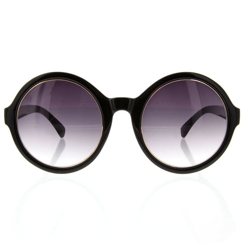Women's Oversized Round Sunglasses Metal Unique Vintage Designer Inspired - grinderPUNCH