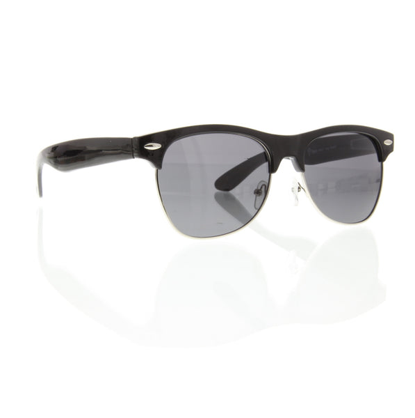 Full Browline Half Frame Sunglasses - grinderPUNCH