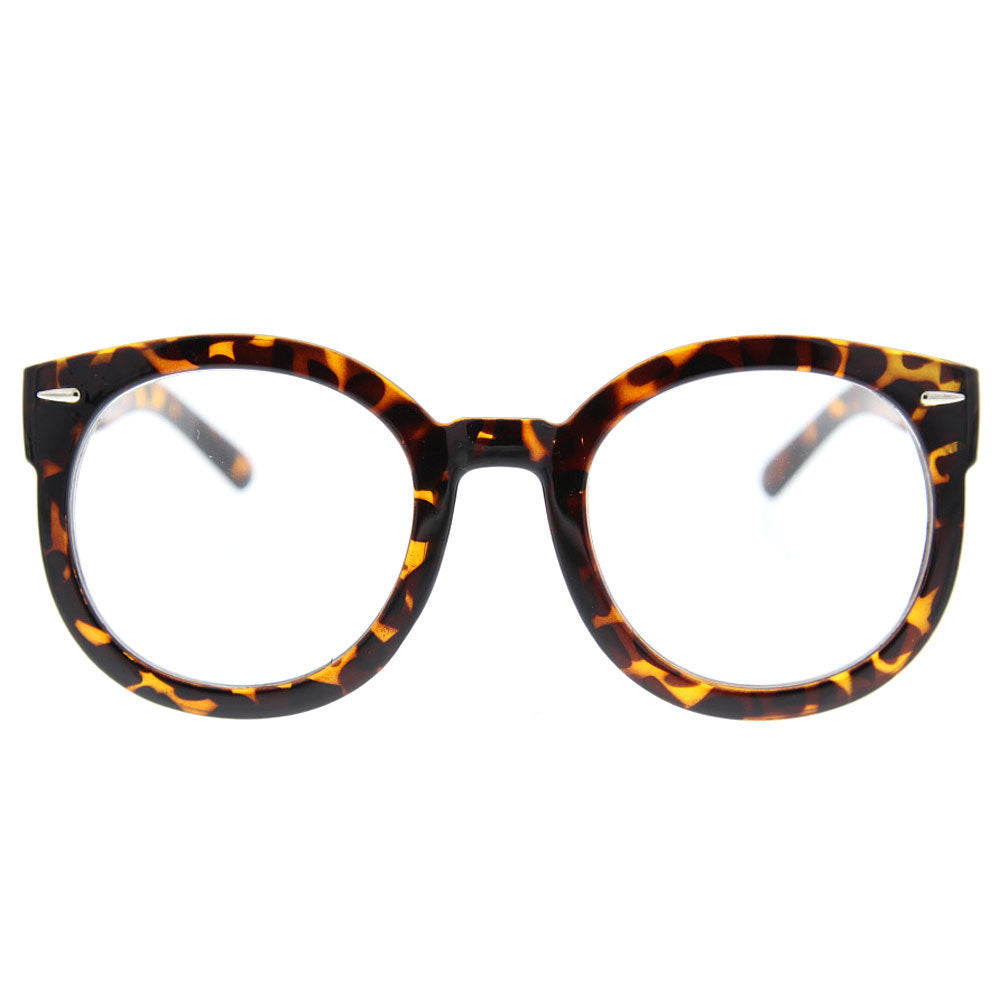 Women\'s Round Clear Lens Sunglasses Large Oversized Cute Thick Frame ...