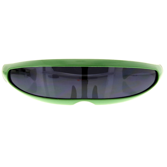 Futuristic Cyclops Party Shield Visor Sunglasses - grinderPUNCH
