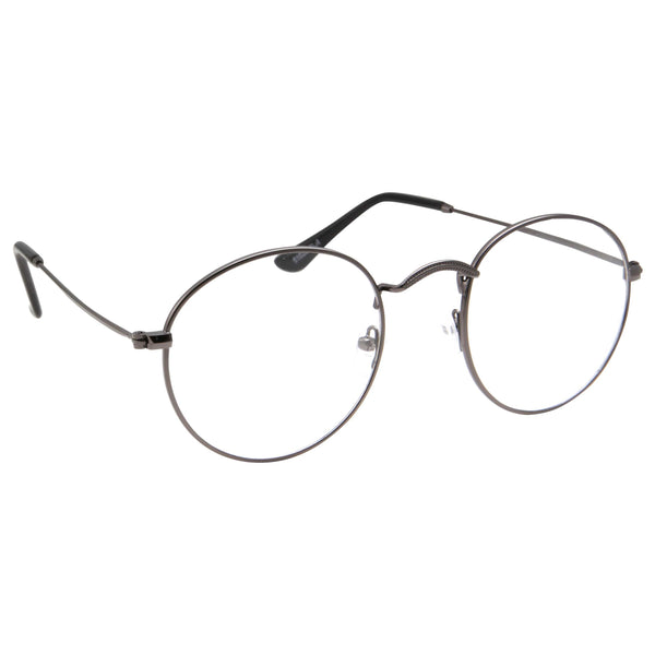 1ed73faefc ... Retro Round Clear Lens Glasses with Metal Frame - grinderPUNCH