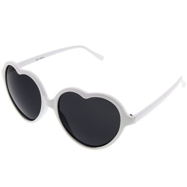 Women's Large Oversized Thin Frame Heart Shaped Love Fashion Sunglasses Cute Fun - grinderPUNCH
